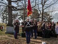 Marines with Marine Barracks Washington D.C. support a full honors funeral for Lt. Gen. John I. Hudson at Arlington National Cemetery, Arlington, Virginia, Feb. 26, 2019.