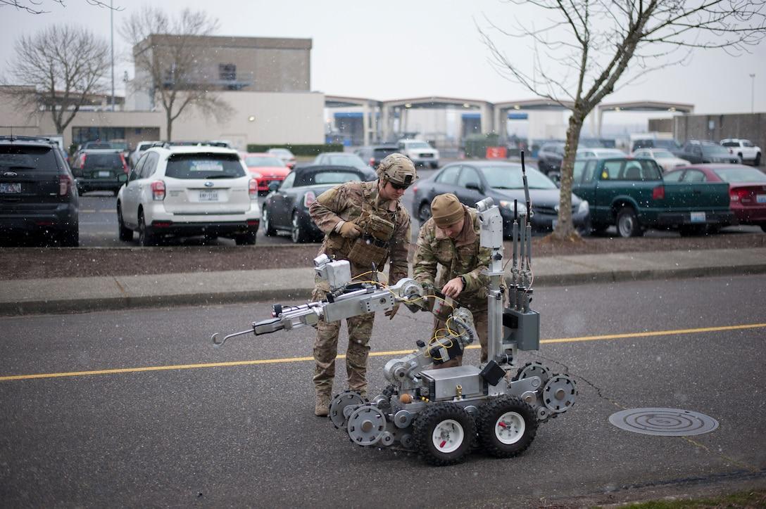 EOD conducts training on base