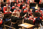 """On Monday, March 11, 2019, the Marine Band and the Choral Arts Society of Washington performed a gala concert titled """"Anthems"""" at The Music Center at Strathmore in North Bethesda, Md. (U.S. Marine Corps photo by Gunnery Sgt. Rachel Ghadiali/released)"""