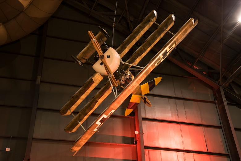 DAYTON, Ohio -- Fokker Dr. I in the Early Years Gallery at the National Museum of the United States Air Force. (U.S. Air Force photo by Ken LaRock)