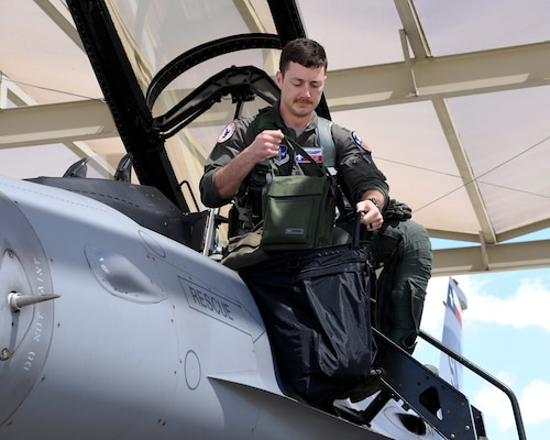 Capt. Michael Butler, a student pilot assigned to the 149th Fighter Wing, prepares for takeoff at Joint Base San Antonio-Lackland March 13.