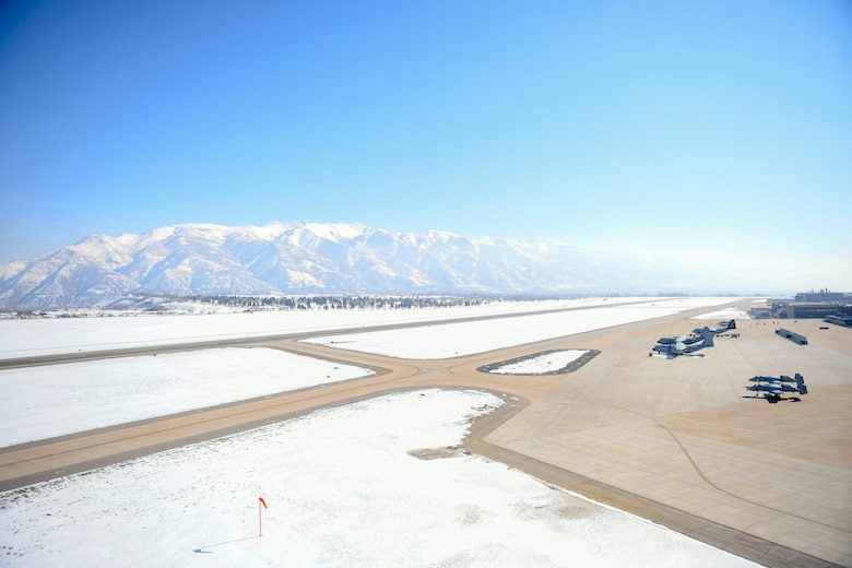 The Hill Air Force Base runway is undergoing construction, getting much needed repairs in a three-phase, $43.6 million project.