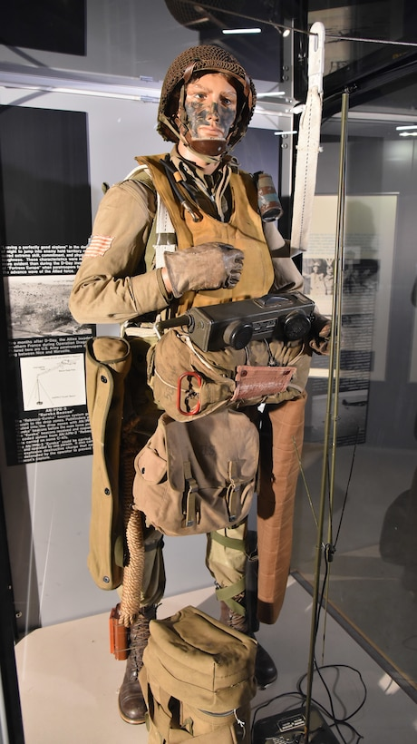 D-Day paratrooper on display in the World War II Gallery.