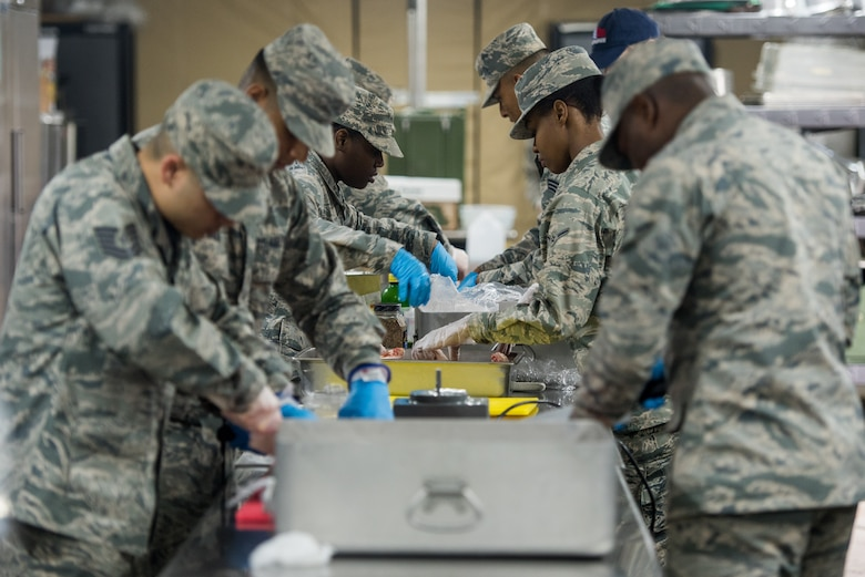 The 512th Memorial Affairs Squadron competes in the 2019 John L. Hennessy competition at Dobbins Air Reserve Base, Georgia, March 9, 2019. The 512th MAS was one of four squadrons out of 39 eligible Air Force Reserve Command units chosen to participate in the event. (U.S. Air Force photo by Staff Sgt. Damien Taylor)