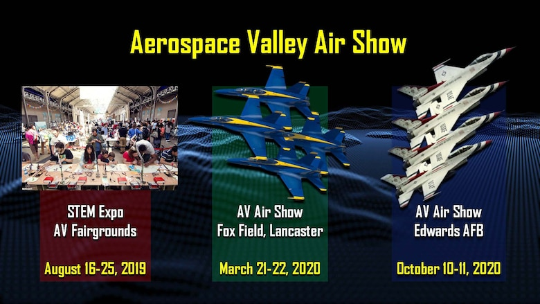 Aerospace Valley Air Show dates. (412th Test Wing Public Affairs graphic)