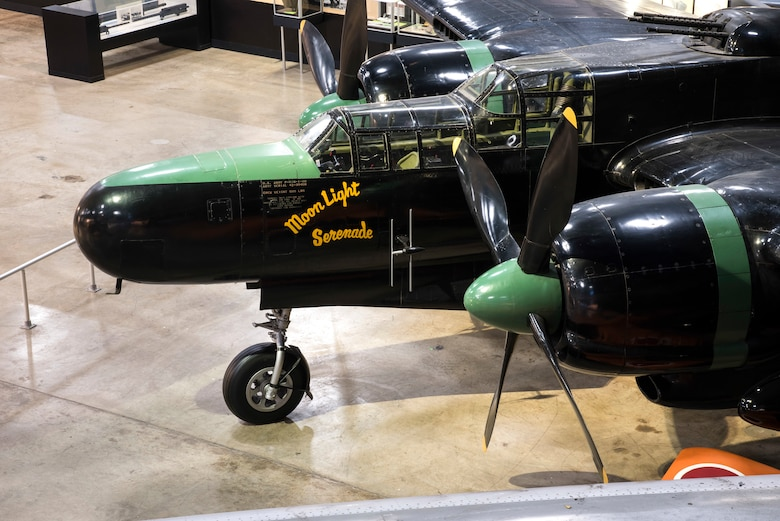 DAYTON, Ohio -- The Northrop P-61C Black Widow on display in the  World War II Gallery at the National Museum of the United States Air Force. (U.S. Air Force photo by Ken LaRock)