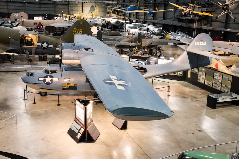 DAYTON, Ohio -- The Consolidated OA-10 Catalina on display in the  World War II Gallery at the National Museum of the United States Air Force. (U.S. Air Force photo by Ken LaRock)