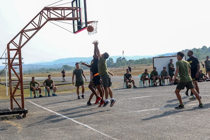 Philippines and US Army Soldiers Play Basketball