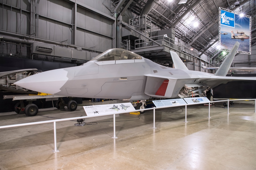 DAYTON, Ohio - Lockheed Martin F-22A Raptor at the National Museum of the U.S. Air Force. (U.S. Air Force photo)