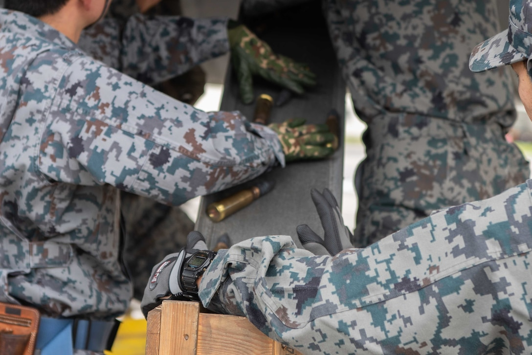JASDF and USAF host bilateral weapons load training