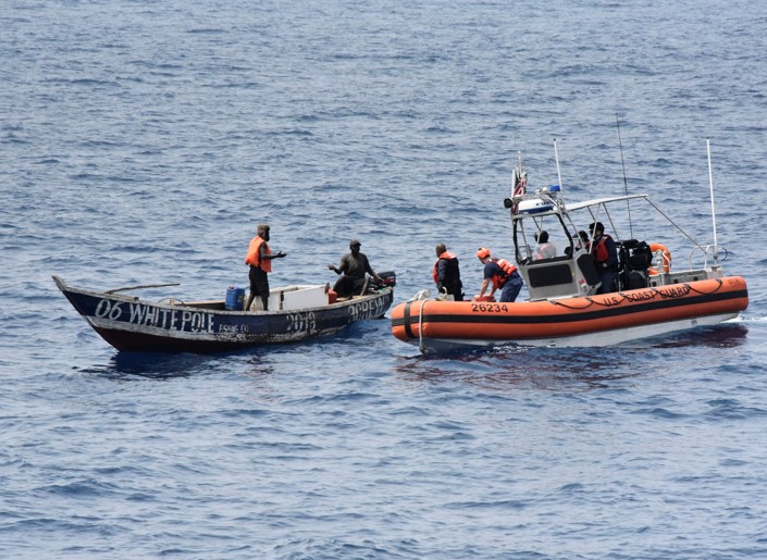 U S  Coast Guard Cutter Thetis Rescues Two Fishermen in the