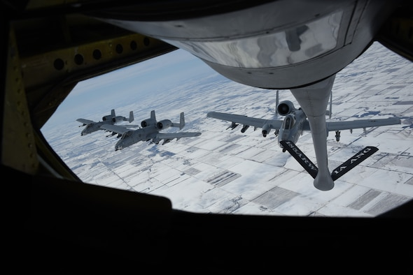 A formation of A-10 Thunderbolt IIs