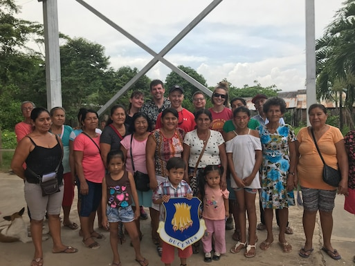 Members of the 22nd Medical Group pose for a photo with locals from of San Martin Region, Peru, March 2019. The physicians were able to complete 959 diagnoses, the most common among patients were both muscle and joint pain, as well as various infectious diseases. (Courtesy photo)