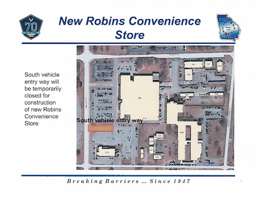 Projects for waterline replacements and new Robins AAFES convenience store begin