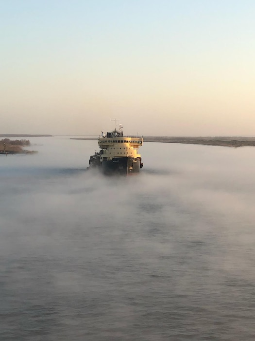 The Dredge McFarland, based out of Fort Mifflin in Philadelphia,  worked on an emergency dredging mission in the Southwest Pass of the Mississippi River from Feb. 4 through March 7, 2019.  Since 2010, the McFarland has operated in a Ready Reserve status meaning it can be activated for emergency operations if private industry is unable to respond to a dredging project.