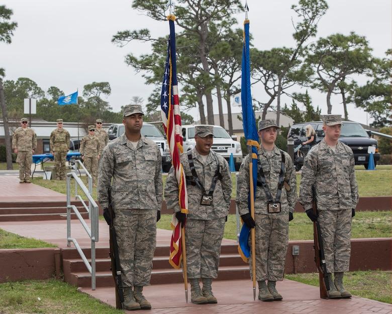 Honor guard beginning colors presentation