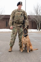 Staff Sgt. Nicolette Sheridan is the only female military working dog handler at Whiteman AFB.