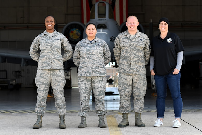 355th Wing Staff Agency Close Airmen Support team poses for a photo at Davis-Monthan Air Force Base, Ariz., March 15, 2019.