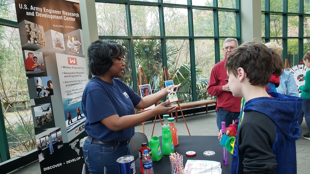 Corps employee participates in student science and technology event