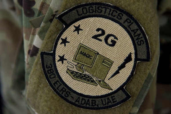 A close-up of the Expeditionary Logistics Readiness Squadron at Al Dhafra Air Base, United Arab Emirates, Mar. 14, 2019.