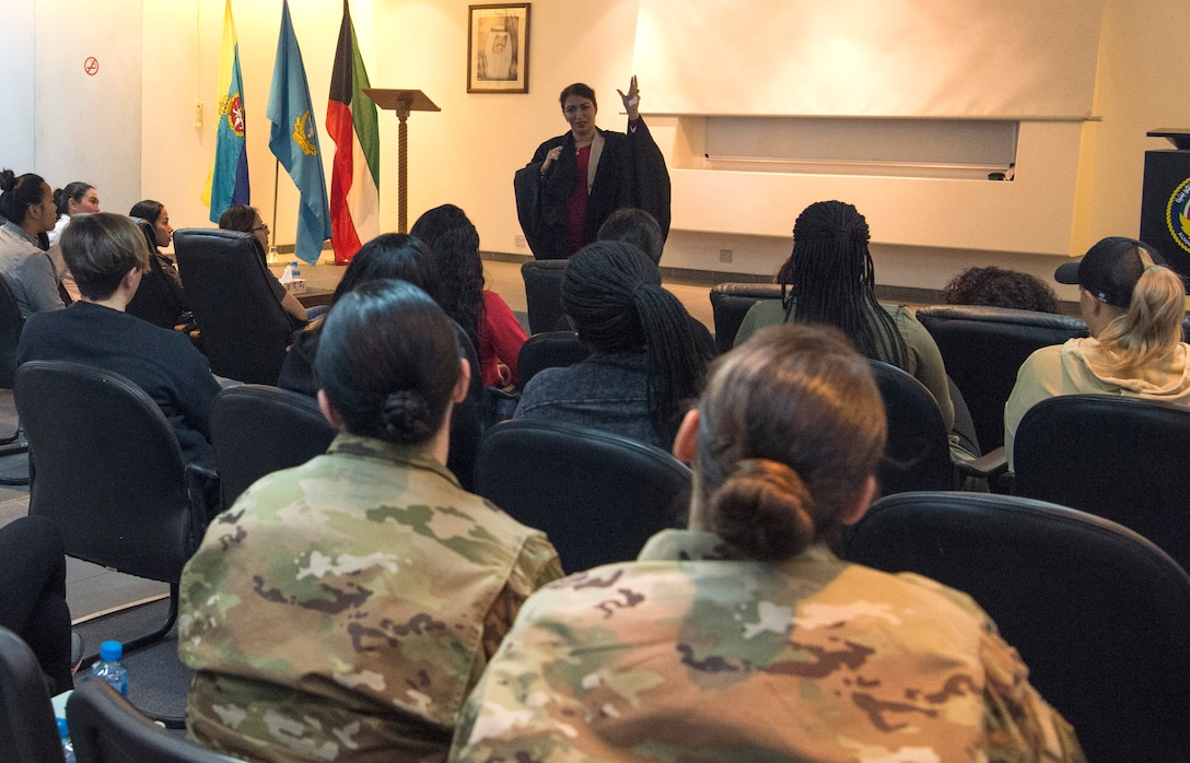 Ali Al Salem Airmen hear firsthand accounts of women in war; gain once in a lifetime experience