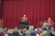 """A jazz combo from """"The President's Own"""" U.S. Marine Band presented a Music in the High Schools program at Montgomery Blair High School in Silver Spring, Md. (U.S. Marine Corps photo by Master Sgt. Kristin duBois/released)"""