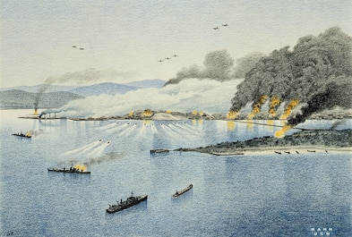 On September 15, 1950 naval forces under Adm. C. Turner Joy deploy troops ashore in the Korean War's Inchon landing, fracturing the North Korean war machine. General MacArthur later signals, 'The Navy and Marines have never shone more brightly than this morning.