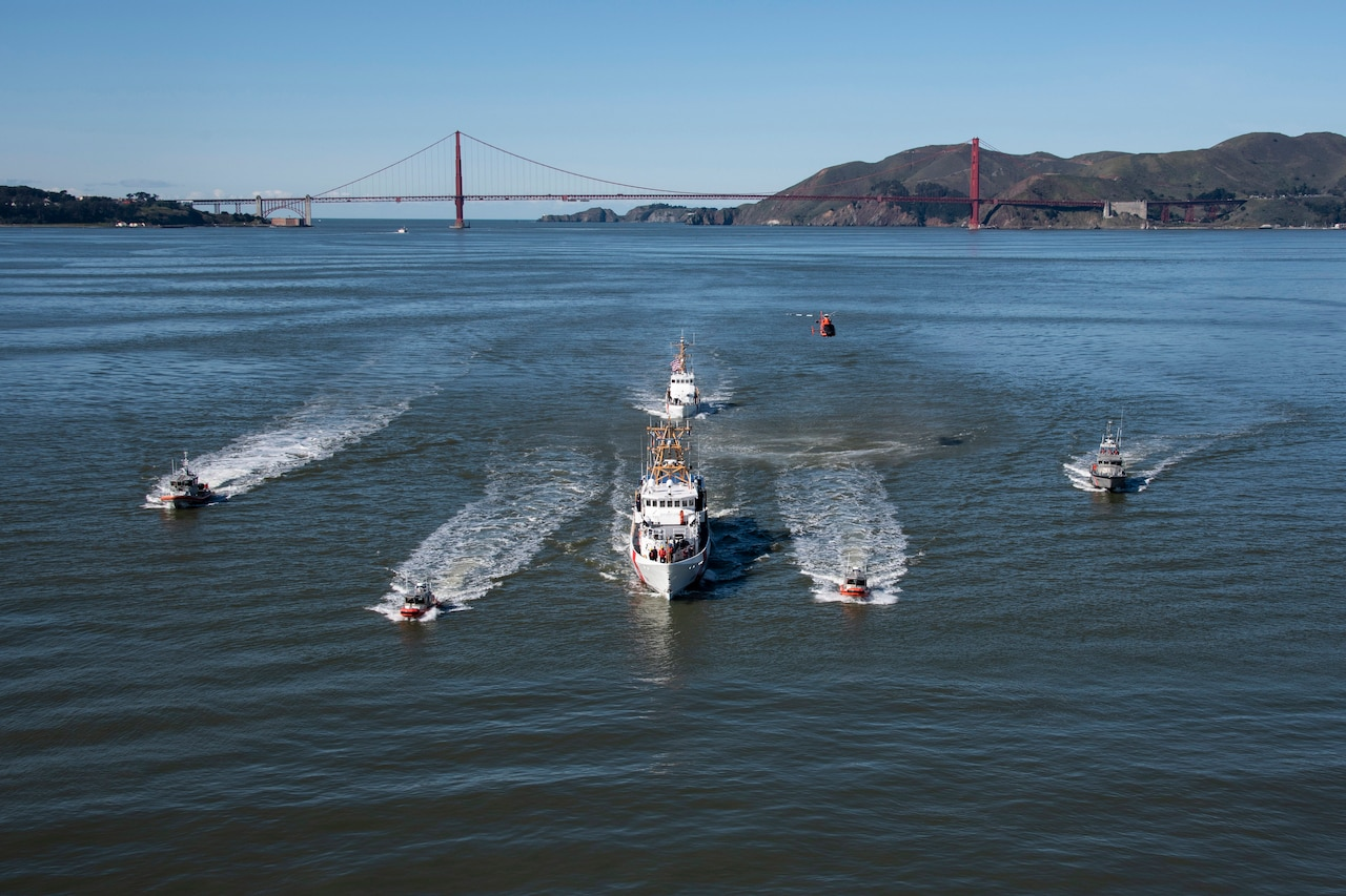 Fleet of cutters sail