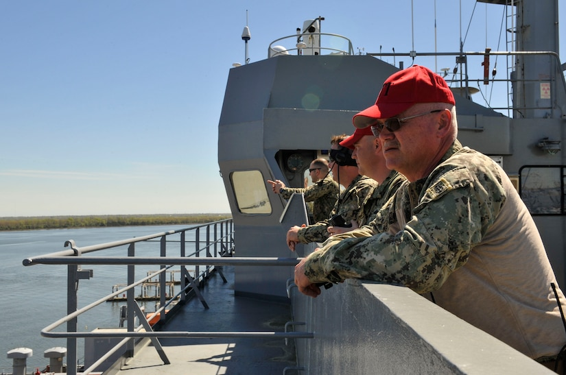 Sailors from the Coastal Riverine Squadron 10 Bravo observe advanced battle drills during an exercise March 12, 2019, at Joint Base Charleston, S.C. – Naval Weapons Station.