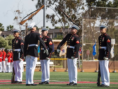 Poppin' sticks: Battle Color Detachment performs at MCAS Miramar