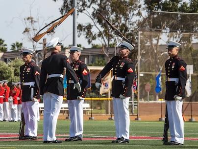 Poppin' sticks: Battle Color Detachment performs at MCAS Miramar