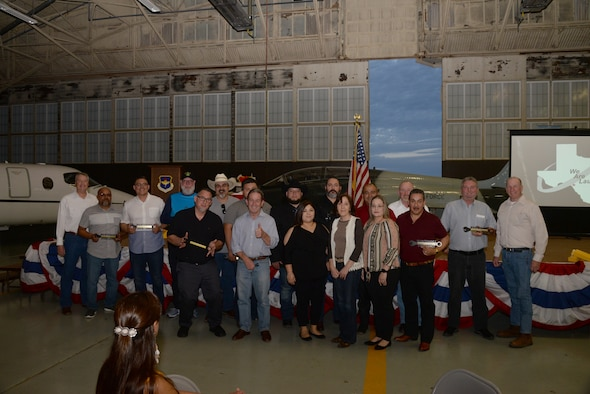 The winners and nominees of the 47th Maintenance Directorate first Annual Awards ceremony pose for a group photo at the 47th Maintenance Directorate on March 9, 2019 at Laughlin Air Force Base, Texas. This event is the first awards ceremony for the 47th MXD of its kind since the directorate's creation in 1989. (U.S. Air Force photo by Senior Airman John A. Crawford)