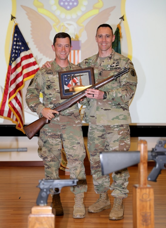 U.S. Army Reserve Sgt. 1st Class Daniel Horner with the Army Reserve Careers Division claimed the title as the 2019 All Army Champion at the U.S. Army Small Arms Championships at Fort Benning, Georgia March 10-16, 2019.  (U.S. Army photo by Michelle Lunato)