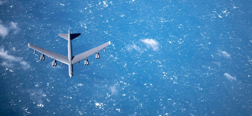Four U.S. Air Force B-52 Stratofortresses conducted flights from RAF Fairford, England, to several places in Europe on March 18, 2019, including to the Norwegian Sea, the Baltic Sea/Estonia and the Mediterranean Sea/Greece.