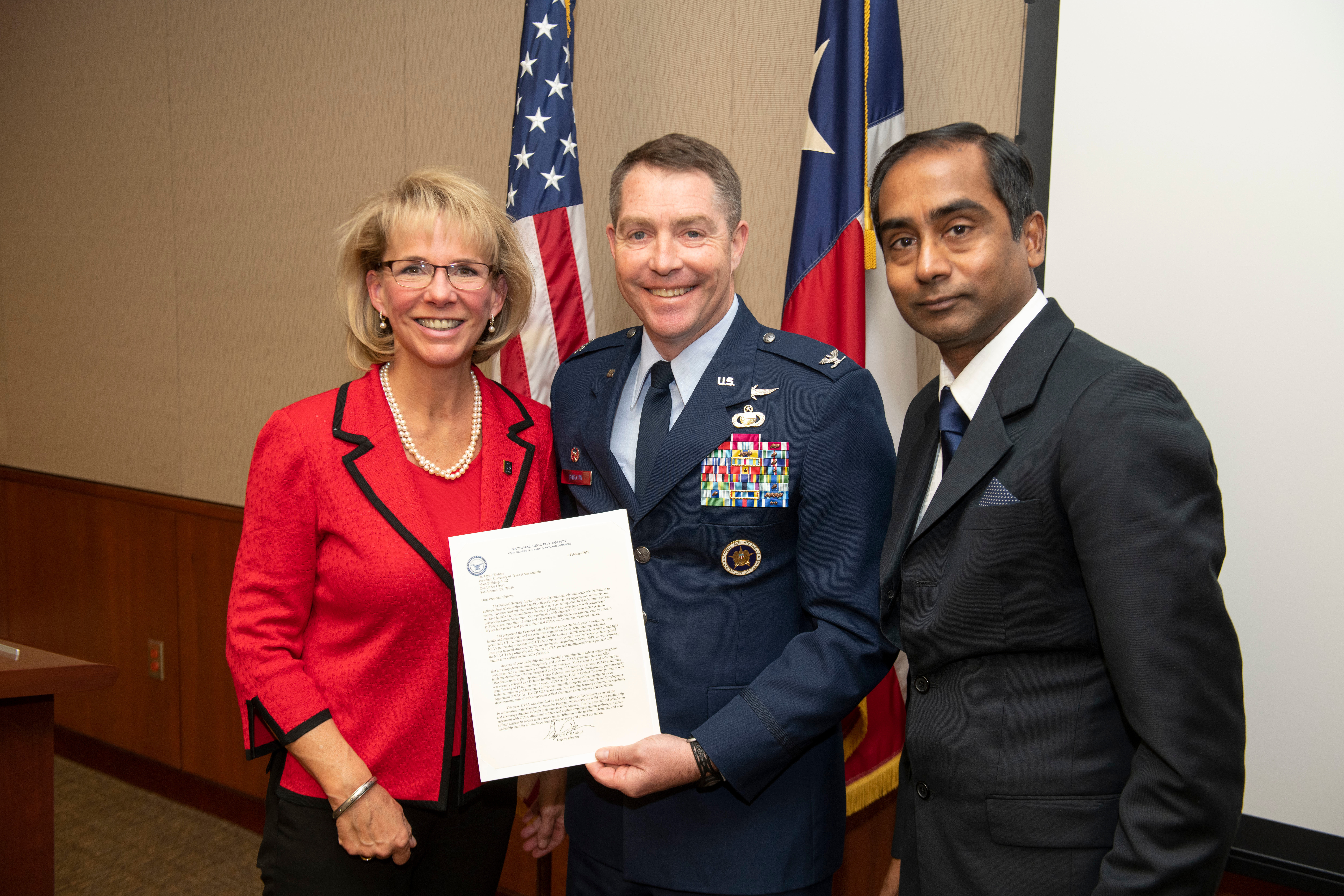 nsa and utsa: partnering to meet cybersecurity challenges