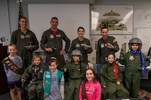 458th AS welcomes Girl Scouts, ROTC cadets