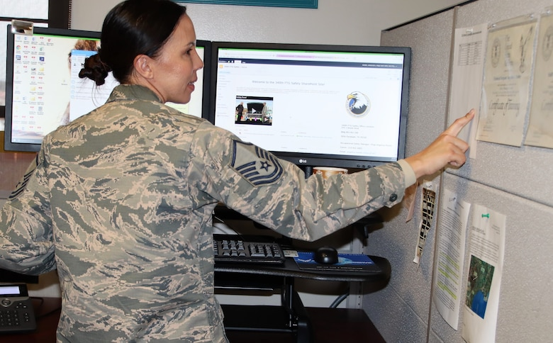 Master Sgt. Angelina Manby is the 340th FTG  Occupational Safety Manager. (U.S. Air Force photo by Janis El Shabazz)