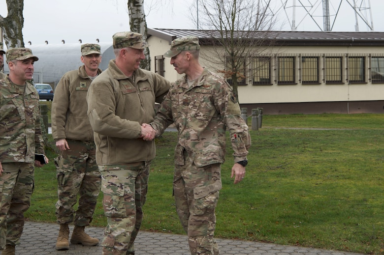 Gordy visited Spangdahlem to discuss the base mission and goals for the upcoming year