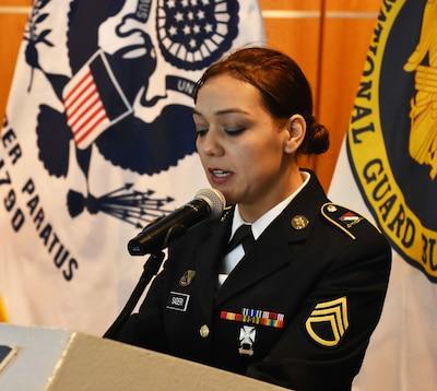 Brazilian-American Guard NCO translated Partnership ceremony