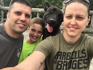 West Virginia Army National Guard Soldier Spc. Emily Pimtus, 753rd Explosive Ordnance Company, joined the Guard in 2018 at age 34 with the support of her husband, Andy, a Marine Corps veteran.