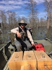 The Natural Resources staff aboard Marine Corps Logistics Base Albany installed new wood duck nesting boxes in the Indian Lake, March 14. Wood ducks are the one of the most common waterfowl species encountered in Georgia and at Indian Lake.