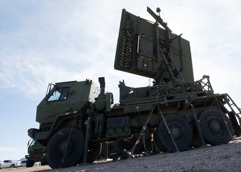 A TPS-75 radar system sits parked.