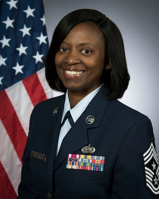 Chief Master Sgt. Bernadette, Command Chief, 187th Fighter Wing