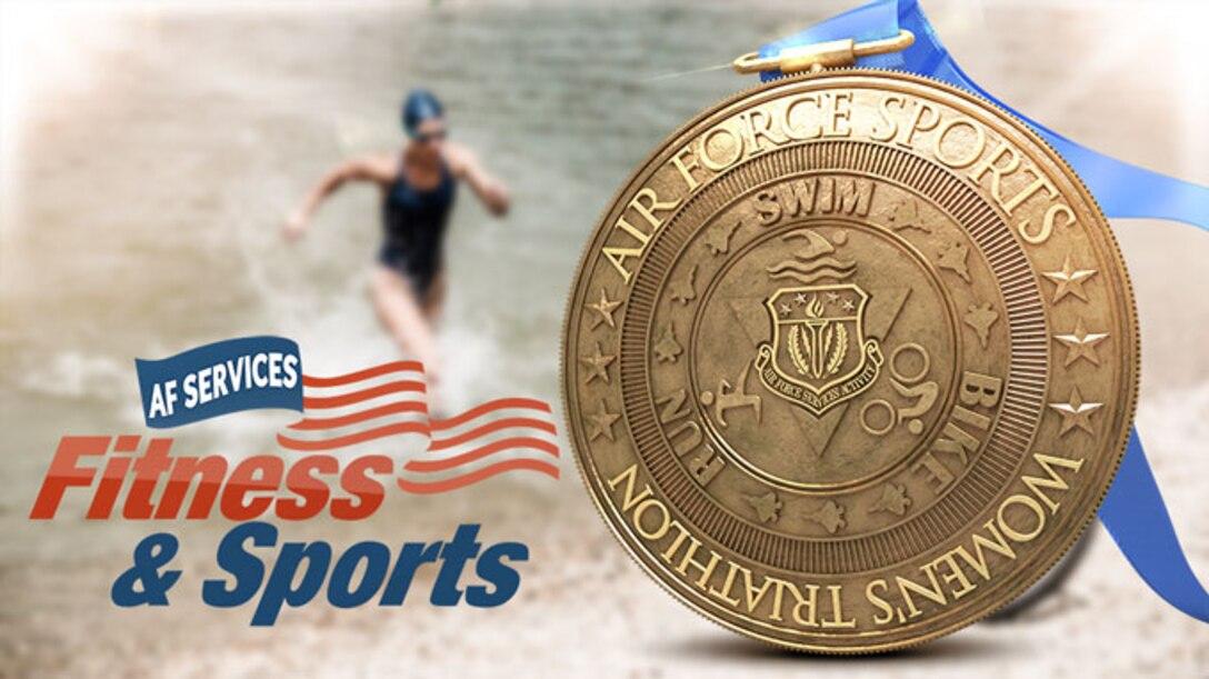Air Force Women's Triathlon graphic