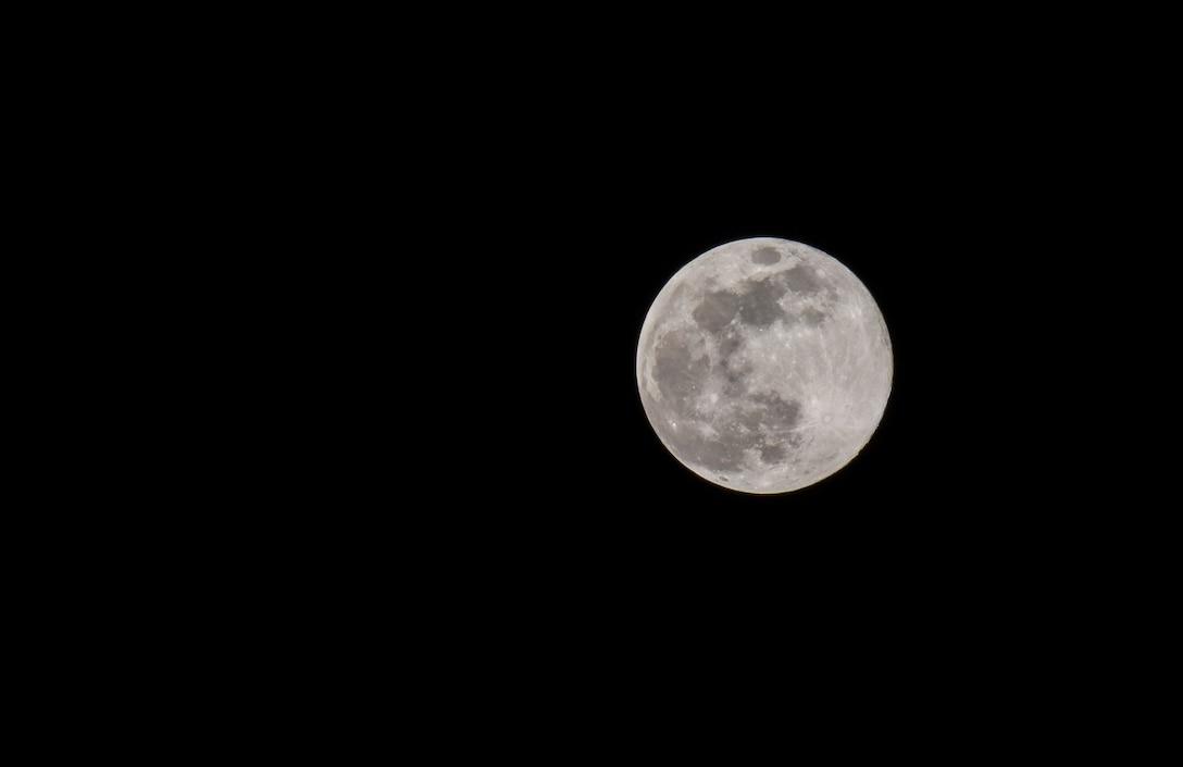 Moon over Minot