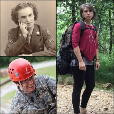 UCDC Chief Kirsten Smyth (far right) with her grandmother who enlisted in the Women's Air Force at 23 years old; her mom, bottom left,  is the president of Bridge Valley Community College and has worked and taught for the US Army since 1993 both in Kuwait and in the States.