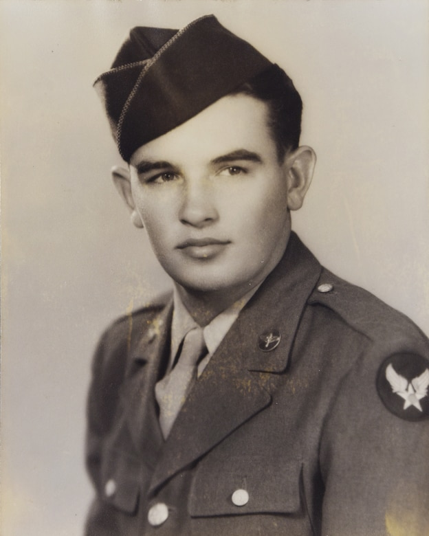A picture of the late John Cockerham, a local Word War II veteran, when he was in the Army Air Corps. Cockerham grew up in Hamilton and worked as an aircraft sheet-metal worker on Columbus Army Air Field, Mississippi, (now Columbus Air Force Base) from 1942-1943. After enlisting in the Army Air Corps, he was assigned to the 100th Bombardment Group as a B-17 Flying Fortress gunner in the Army Air Corps. (Courtesy photo)
