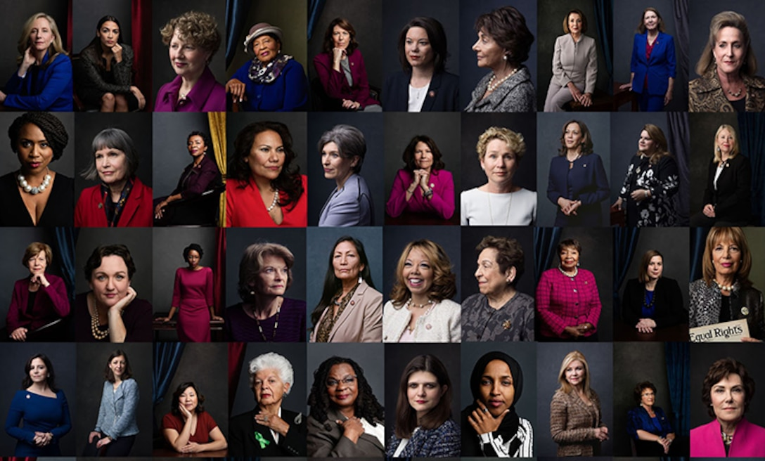 Photo illustration of women in leadership roles