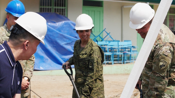 Balikatan 2019: AFP, U.S. Army begin construction project at Pagasa Elementary