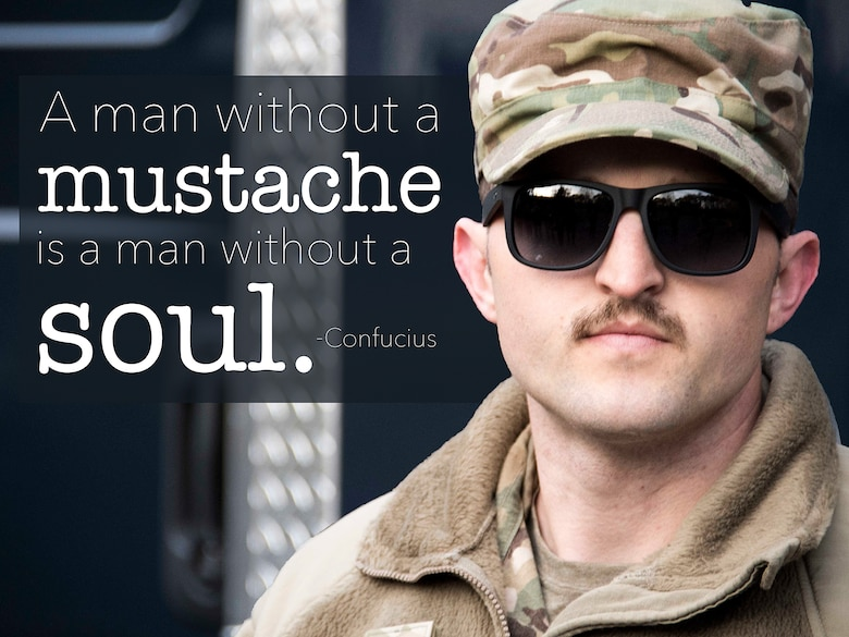 This week's motivation is in honor of Mustache March, an annual tradition where men in the Air Force grow mustaches in honor of Brig. Gen. Robin Olds.   (U.S. Air Force graphic/Staff Sgt. Andrew Park)